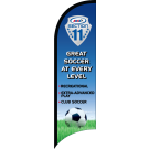 "AYSO Section 11 ""Great Soccer"" Custom Double-Sided Team Wind Flag"