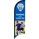 "AYSO Section 11 ""Winning With Character"" Custom Double-Sided Team Wind Flag"
