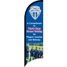 "AYSO Section 11 ""World Class Soccer Training"" Custom Double-Sided Team Wind Flag"
